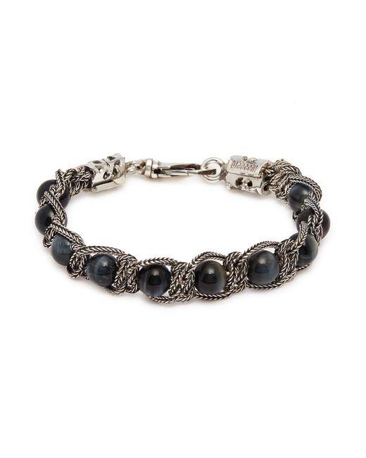 Emanuele Bicocchi - Metallic Bead Chain Silver Bracelet for Men - Lyst