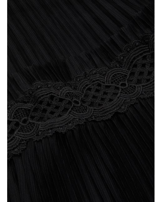 4a54e98e19 ... Alice + Olivia - Black 'emmie' Lace Trim Tiered Hem Pleated Tulle Skirt  -