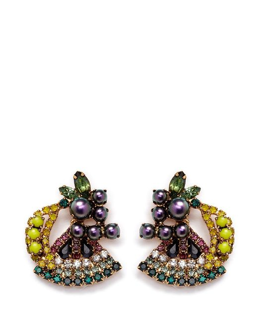 Elizabeth Cole | Multicolor 'petite Fruit Salad' Swarovski Crystal Earrings | Lyst