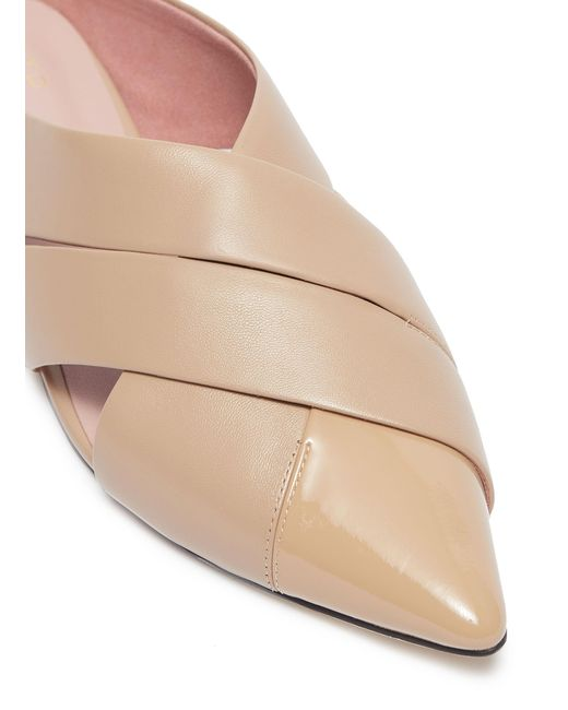 d40d0c918 ... Pedder Red - Natural 'willa' Cutout Cross Leather Slides - Lyst