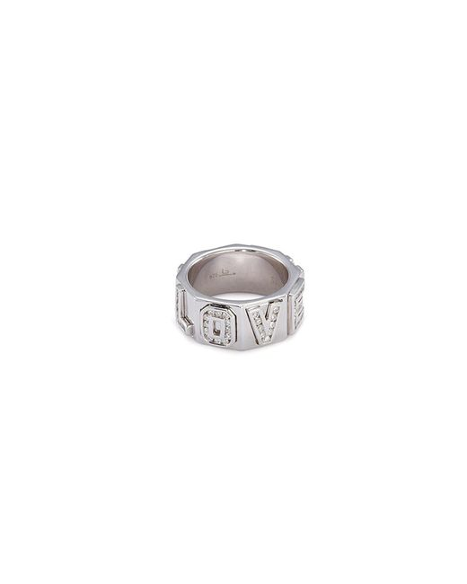 Lynn Ban - Metallic 'i Love You' Diamond Silver Ring for Men - Lyst