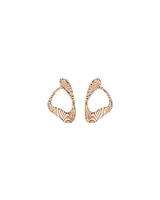 Fernando Jorge - Metallic 'stream Lines' 18k Rose Gold Loop Earrings - Lyst