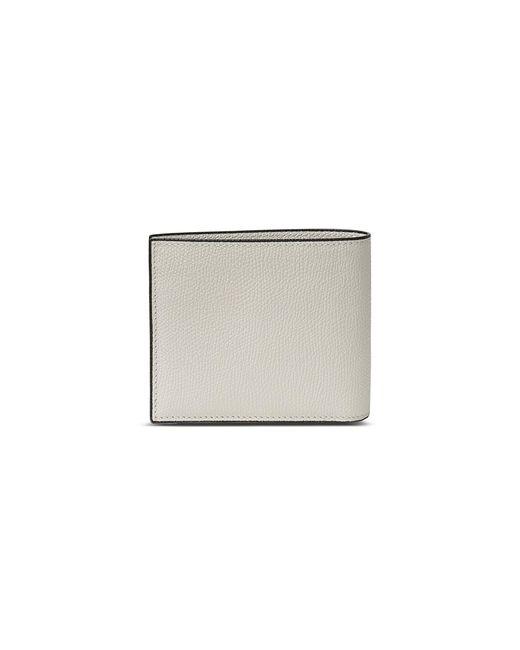 Valextra - Leather Bifold Wallet – White - Lyst
