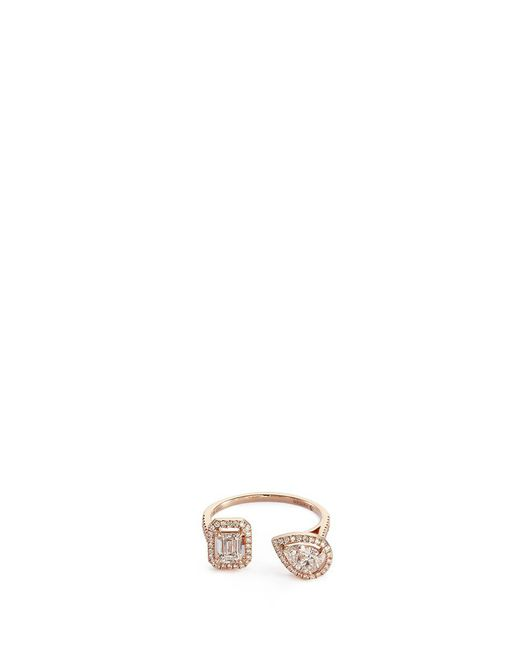 Messika | Metallic 'my Twin' Diamond 18k Rose Gold Ring | Lyst