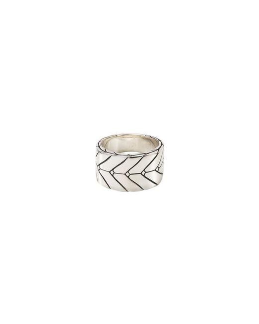John Hardy - Metallic Silver Weave Effect Ring - Lyst