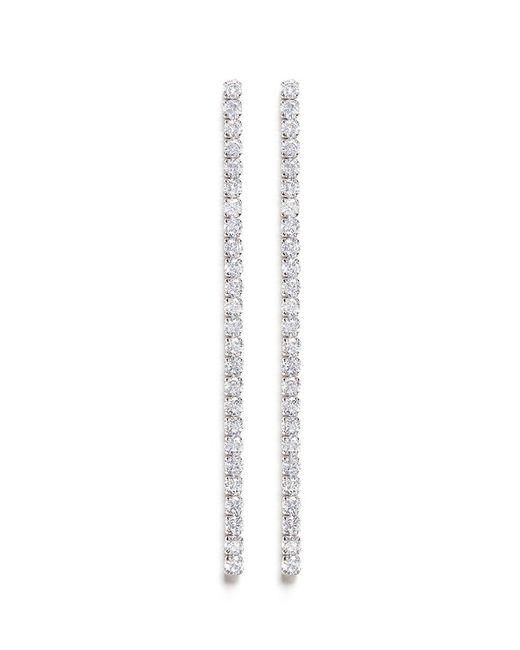 CZ by Kenneth Jay Lane | White Cubic Zirconia Linear Link Earrings | Lyst