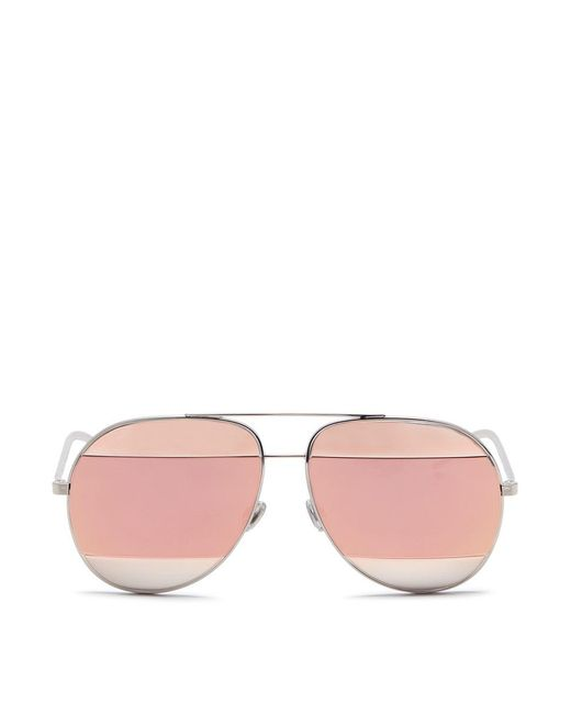 Dior - Pink ' Nightfall' Acetate Temple Metal Round Mirror Sunglasses - Lyst