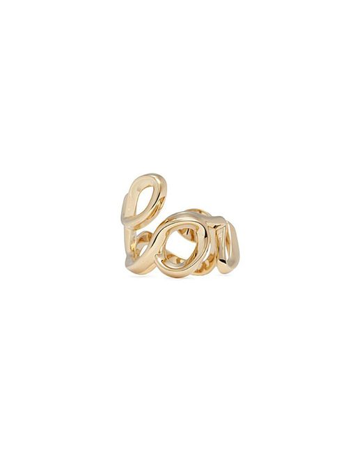 Chloé - Metallic 'love' Cursive Writing Ring - Lyst