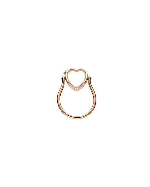 Loquet London - Metallic 14k Rose Gold Heart Locket Ring - Small 12mm - Lyst