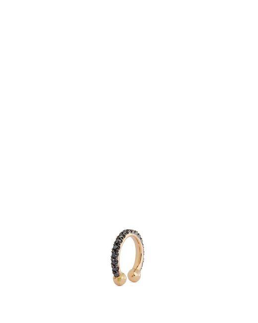 Kim Mee Hye   'single Rocker' Black Diamond 18k Rose Gold Lip Ring   Lyst