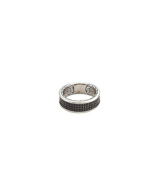 John Hardy - Black Rhodium Silver Dotted Jawan Ring for Men - Lyst