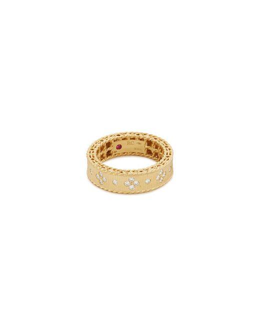 Roberto Coin - Metallic 'princess' Diamond 18k Yellow Gold Ring - Lyst