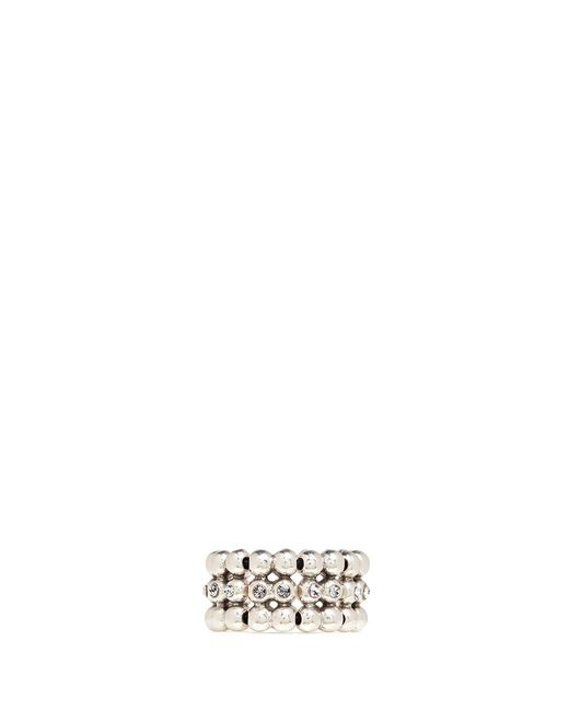 Philippe Audibert | Metallic 'meryl' Swarovski Crystal Bead Elastic Ring | Lyst
