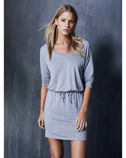 Lanston   Blue Scoop Mini Dress   Lyst