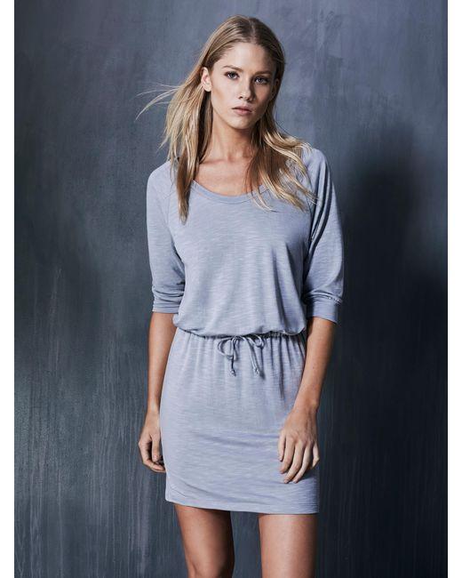 Lanston | Blue Scoop Mini Dress | Lyst