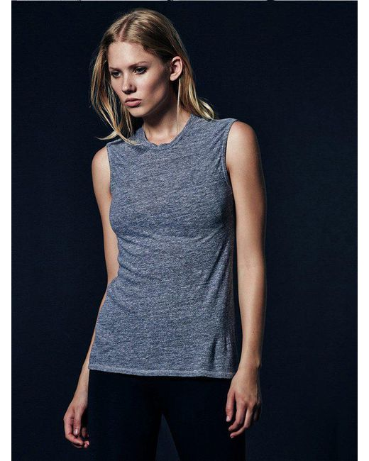 Lanston | Blue Fitted Muscle Tee | Lyst