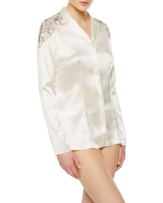La Perla | White Jacket-style Top | Lyst