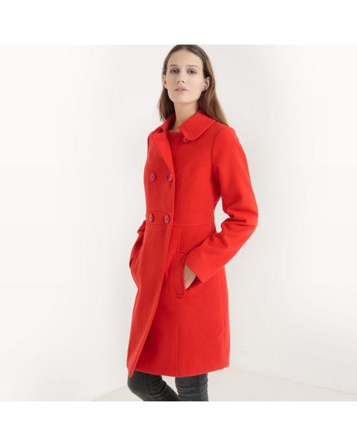 LA REDOUTE | Red Sixties Peter Pan Collar Coat | Lyst