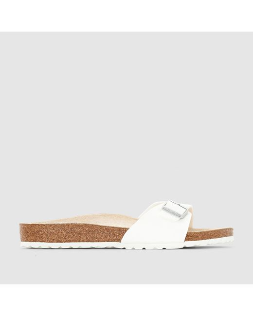 Birkenstock | White Madrid Faux-Leather Slides | Lyst