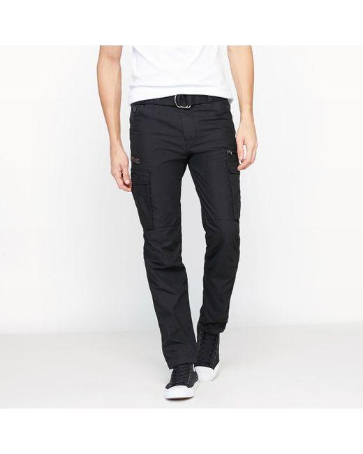 Schott Nyc | Black Cargo Us 70 Slim Combat Trousers for Men | Lyst