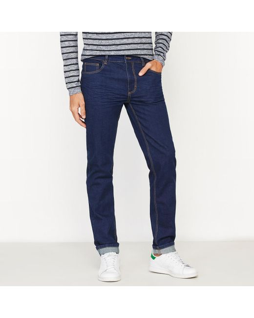 LA REDOUTE | Blue Slim-fit Jeans for Men | Lyst