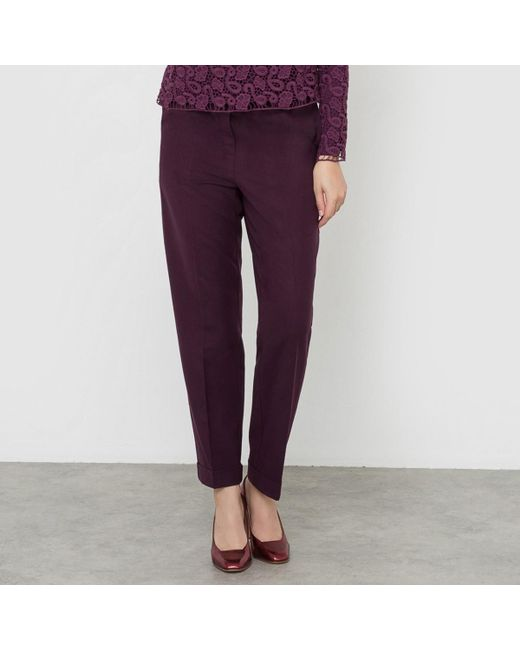 LA REDOUTE - Purple Flannel 7/8 Length Trousers - Lyst