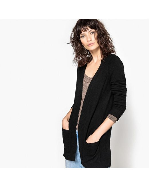 LA REDOUTE | Black Long-sleeved Open Cardigan | Lyst