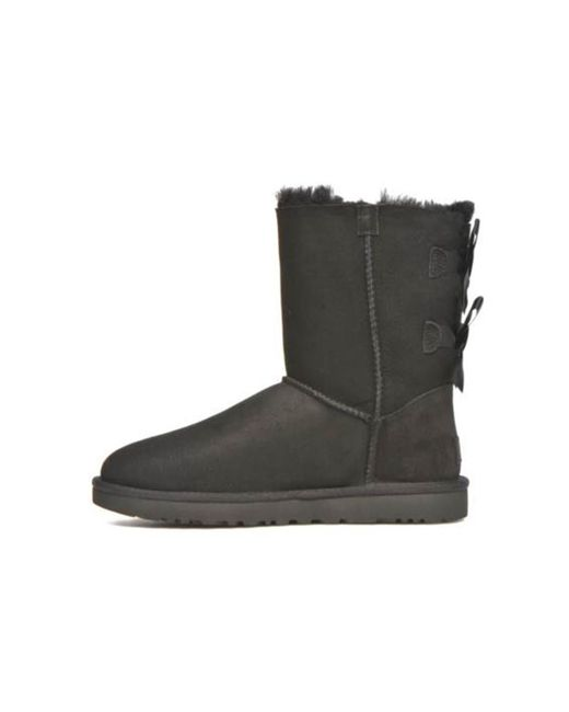 a1c3efb06659 ... Ugg - Black Bailey Bow Ii Fur-lined Ankle Boots - Lyst ...