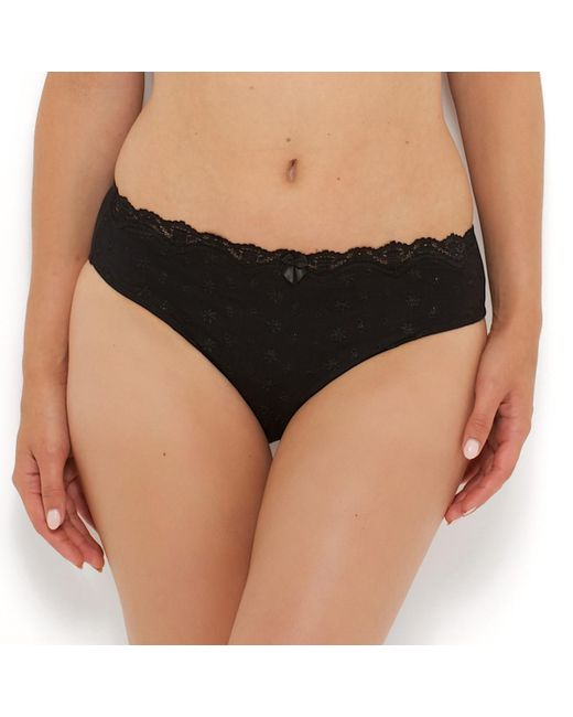LA REDOUTE - Black Pack Of 2 Sylphide Briefs - Lyst