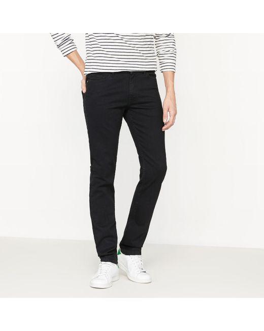 LA REDOUTE - Black Slim-fit Stretch Denim Jeans for Men - Lyst