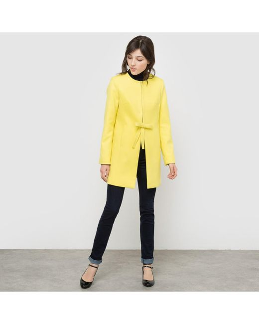 LA REDOUTE - Yellow Coat With Bow - Lyst