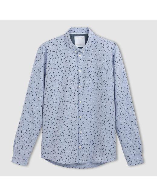 Minimum | Blue Long-sleeved Cotton Shirt for Men | Lyst
