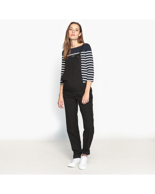 LA REDOUTE | Black Slim Fit Maternity Dungarees | Lyst