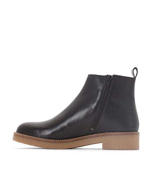 La Redoute Collections Leather Ankle Boots with Crêpe Sole latest for sale 8JSxunX4