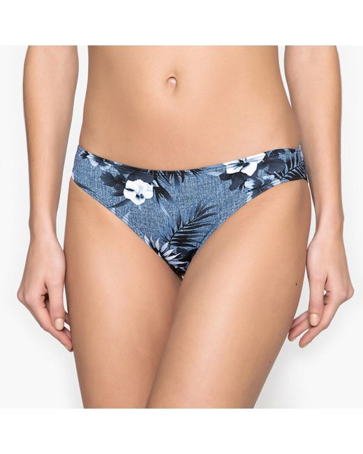 LA REDOUTE - Blue Floral Bikini Bottoms - Lyst