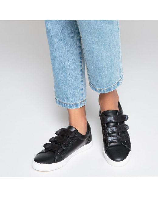 00c0c70bff80a Lyst - La Redoute Iridescent Touch And Close Trainers in Black for Men