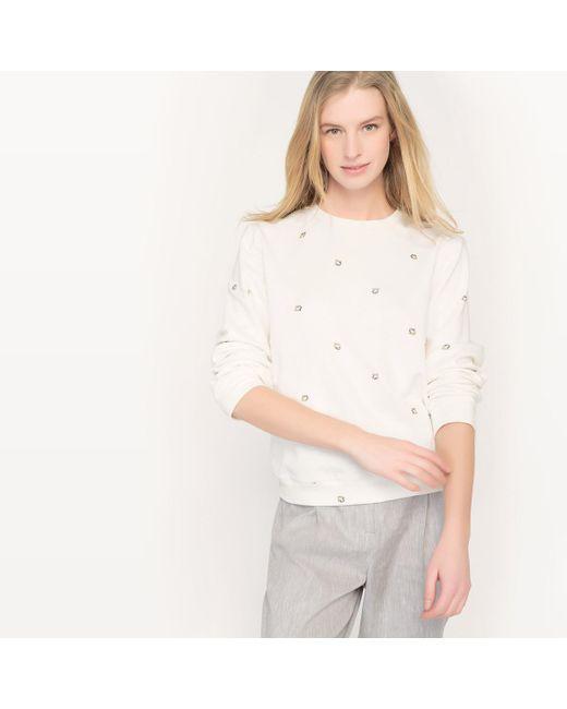 LA REDOUTE - White Crew Neck Sweatshirt - Lyst