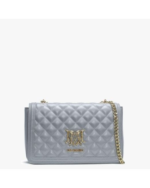 9baf4e87b79 Love Moschino - Gray Grey Quilted Shoulder Bag - Lyst ...