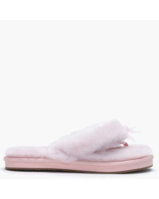 1b77ced403f Women's Fluff Ii Seashell Pink Flip Flop Slippers