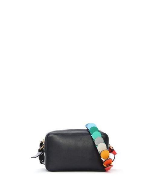 Anya Hindmarch   Blue Circle Mini Navy Leather Cross-body Bag   Lyst