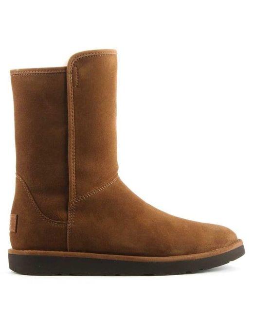 Ugg | Brown Ugg Australia Abree Short Ii Chestnut Suede Ankle Boot | Lyst
