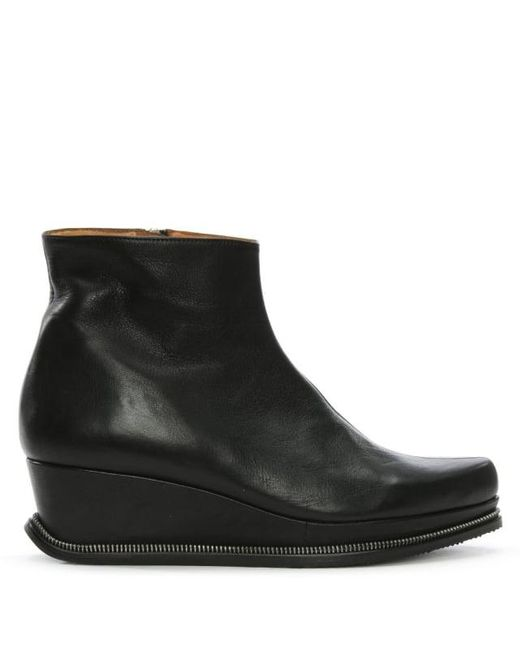 Audley | Casterbridge Black Leather Wedge Ankle Boots | Lyst