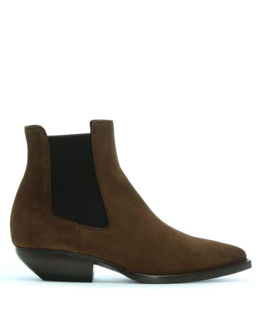 Saint Laurent Tan Suede Theo Chelsea Boots P5AoY8Ld