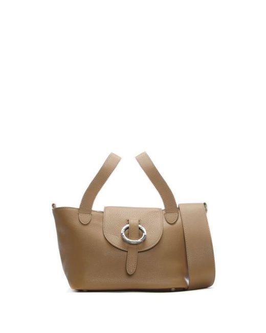Meli Melo - Brown Rose Thela Tan Leather Mini Shoulder Bag - Lyst