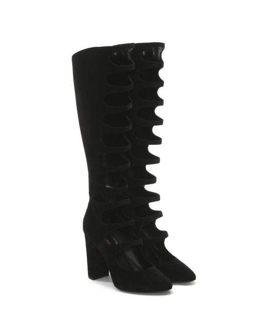 592c7da9a78 Lyst - Saint Laurent Open-strap Boots in Black - Save 76%
