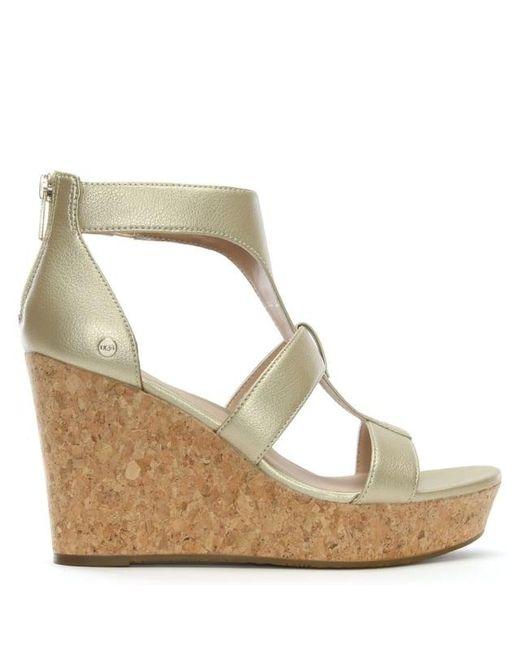 UGG® Whitney Metallic Wedge Sandals ICktm