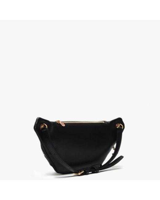 7cb50cb3d80 ... Tory Burch - Fleming Black Leather Belt Bag - Lyst ...
