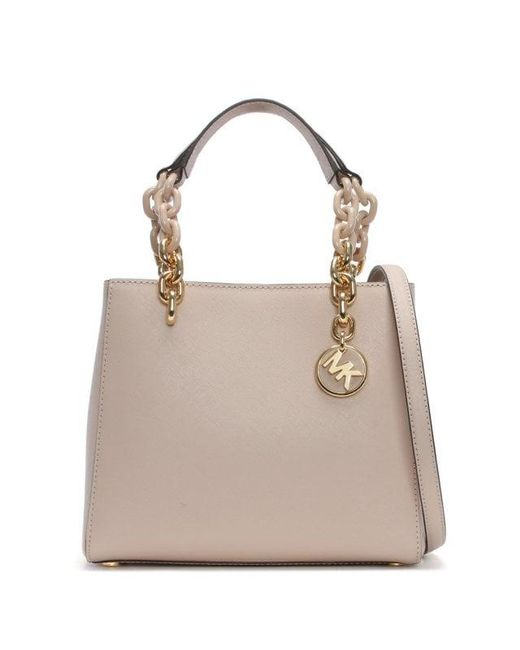 Michael Kors Small North South Soft Pink Leather Cynthia Satchel Bag C Lyst