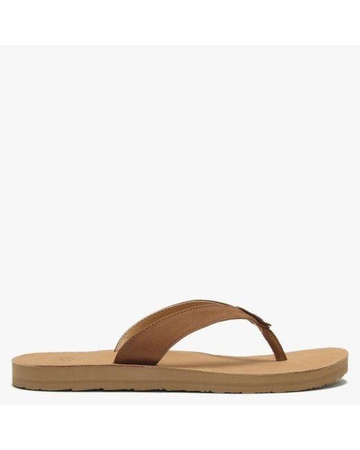 b55fc76d87e Women's Brown Tawney Chestnut Leather Toe Post Flip Flops