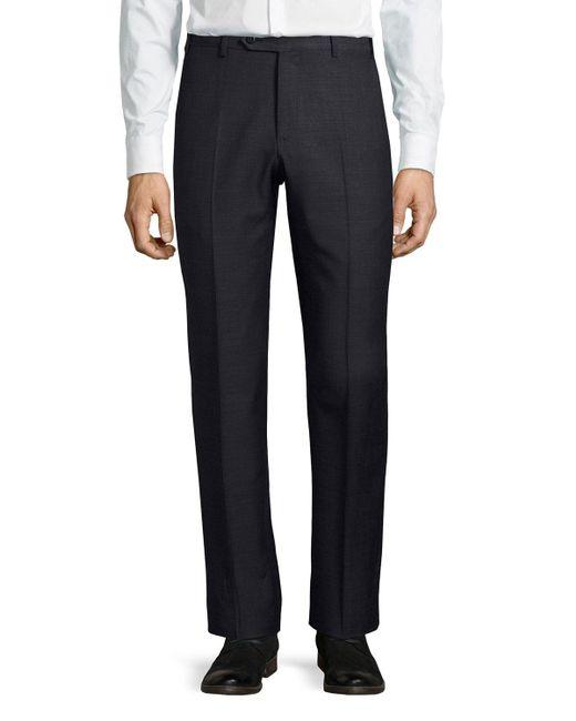 Zanella | Blue Parker Wool Pants for Men | Lyst